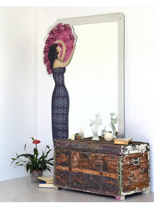 Wall mirror in recycled aluminum - Colette