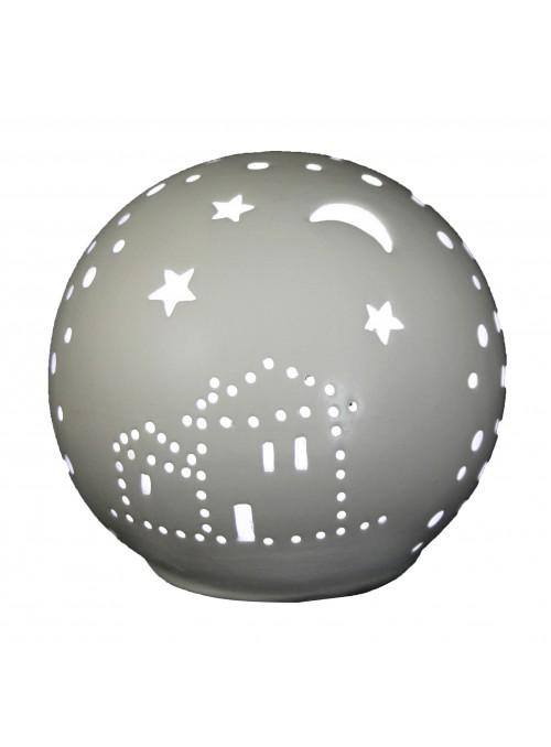 Rounded ceramic mini lamp - Casa