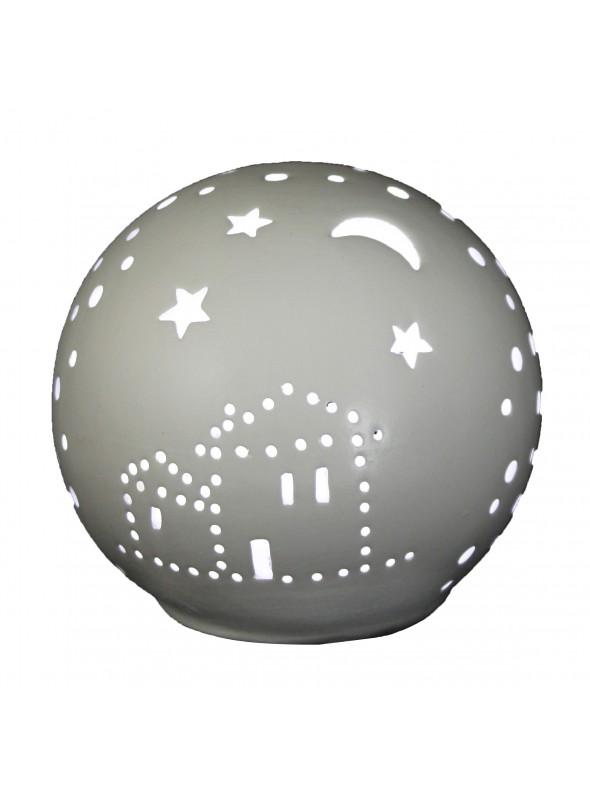 Lampada mini a sfera in ceramica - Casa