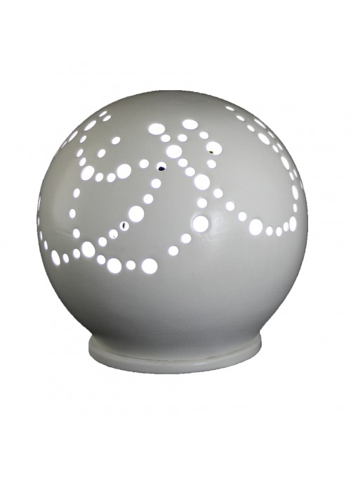 Rounded ceramic mini lamp - Cordoni