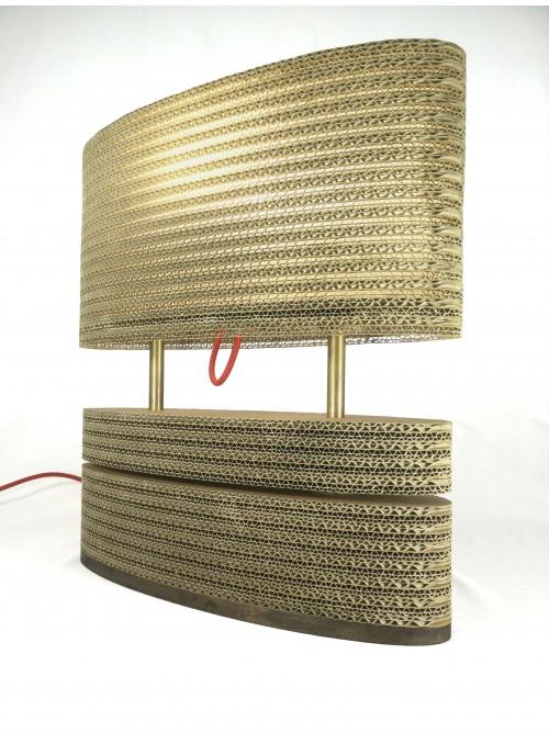 Ground cardboard lamp - Oval
