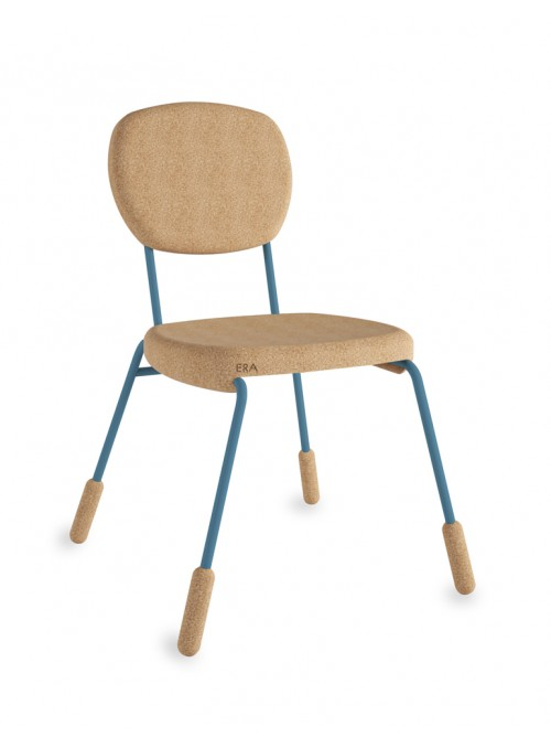 Cork chair with coloured details - Era piedini