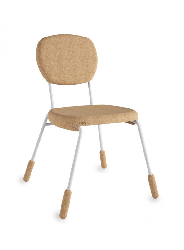 Cork chair with coloured details - Era piedini