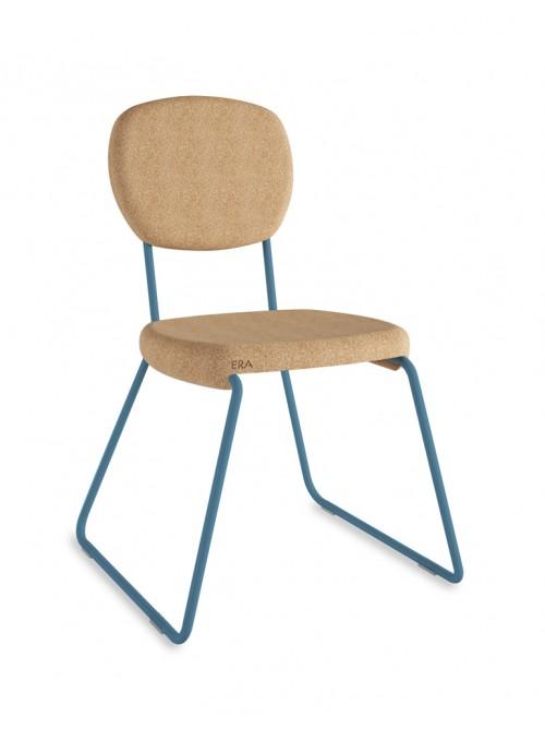 Sedia in sughero con dettagli colorati - Era slitta
