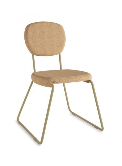 Cork chair with coloured details - Era slitta