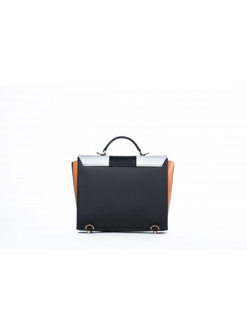 Medium bag in faux leather and cork - Max Bighty Orange