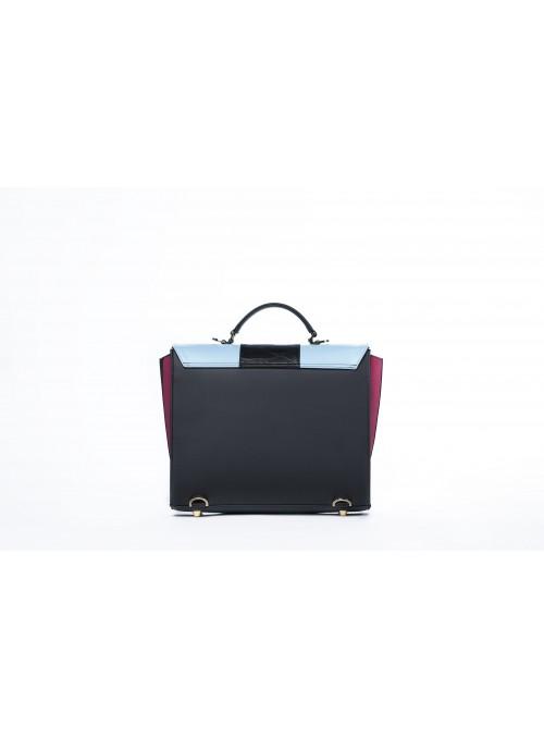 Medium bag in faux leather and cork - Max Bighty Fucsia