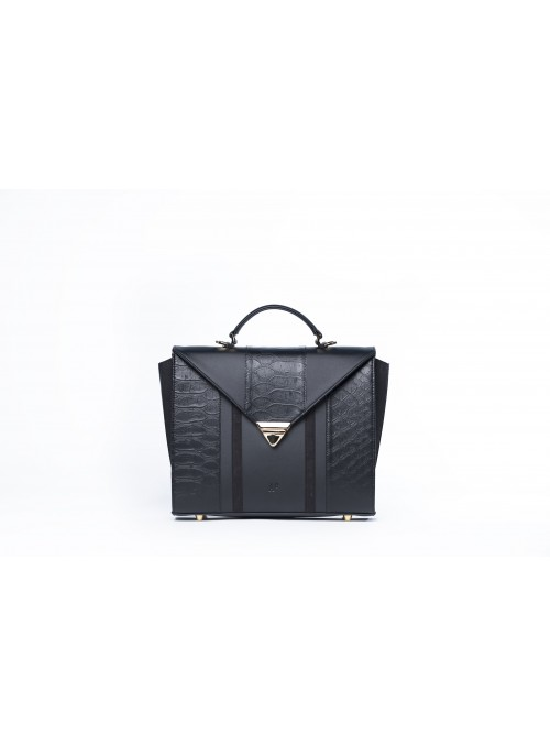 Medium bag in faux leather and cork - Max Bighty Black