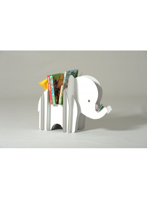 Cardboard magazine rack shaped as an elephant - Effy