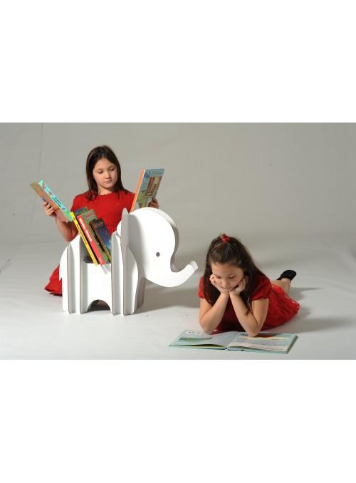 Portariviste in cartone dalla forma di elefante - Effy