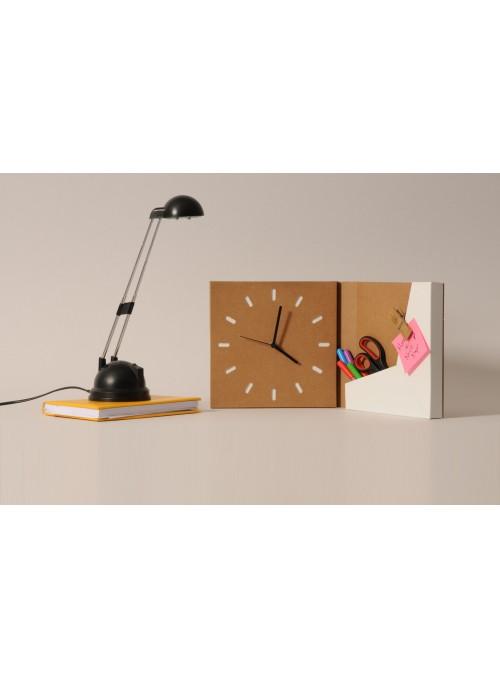 Cardboard squared clock - Caseclock