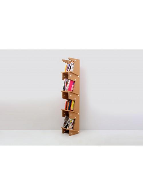 Cardboard modular bookshelf - Tipsi