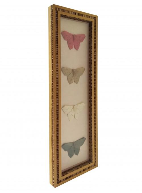 Teca con quattro origami a forma di farfalla - Yon