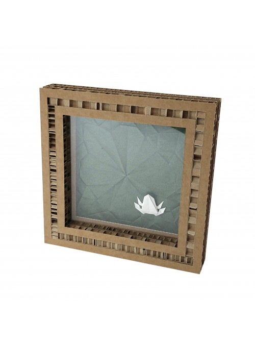 Frame with frog shaped origami - Pattern