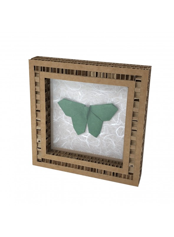 Frame with origami butterfly