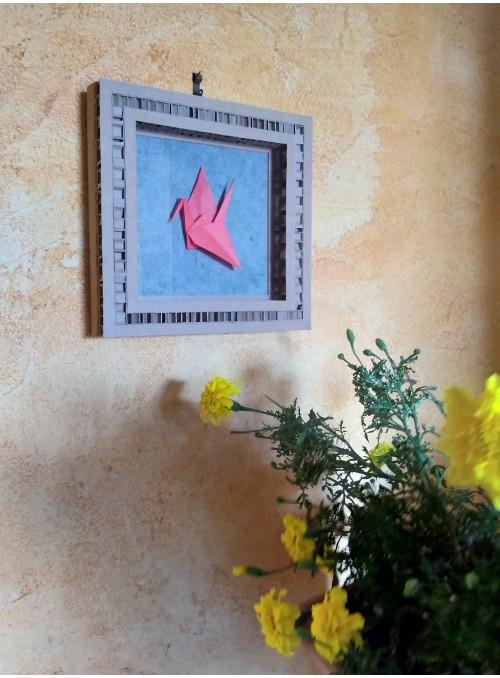Quadro origami a forma di gru - Gru