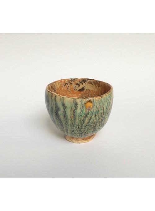 Coppa in ceramica neriage e oro