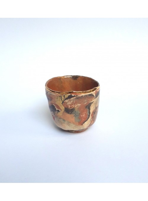 Cup in neriage and gold ceramic