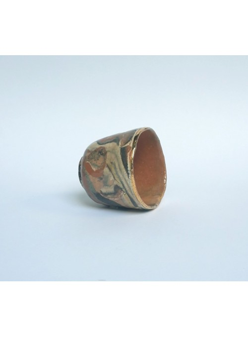 Tazza in ceramica neriage e oro