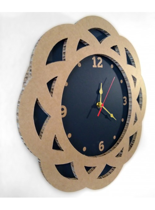 Cardboard clock with flower shape - Fiore