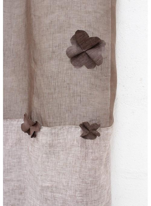 Tenda in garza e velo di lino con decorazioni - Cosmos