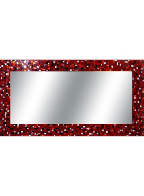 Specchio con cornice mosaico - Bloody Mary