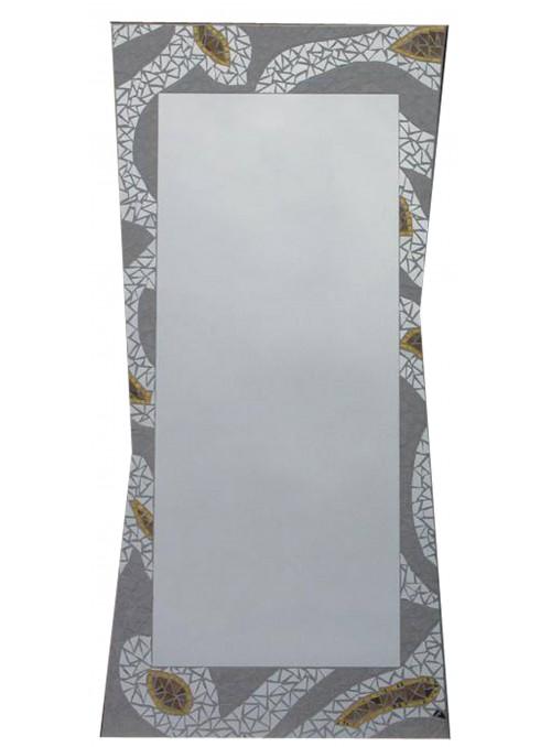 Specchio con cornice mosaico - Meringa