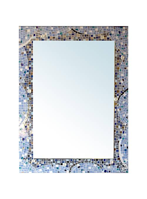 Specchio con cornice mosaico - Milleluci