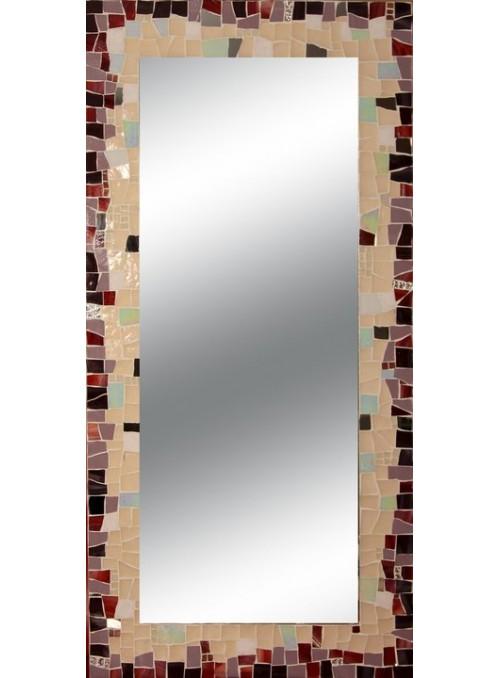 Mirror with mosaic frame - Non ti scordar di me
