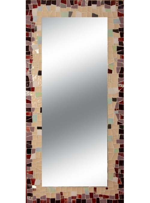 Specchio con cornice mosaico - Non ti scordar di me