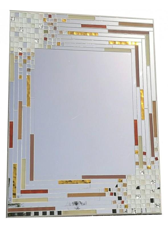 Specchio da muro cornice mosaico stecche - Cornici a specchio ...