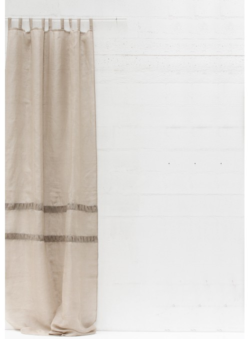 Tenda in garza di lino con passanti - Plissé