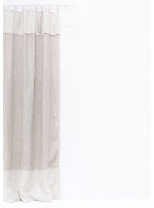Courtain in two colours linen with loops - Doppia rete