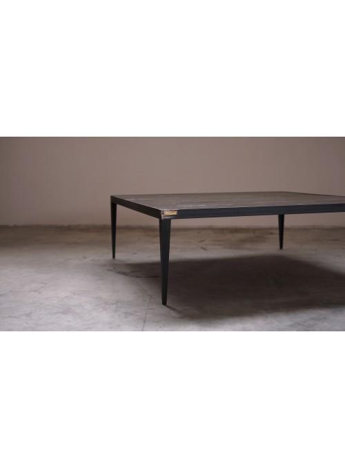 Tavolino da caffè in legno e ferro - Cera
