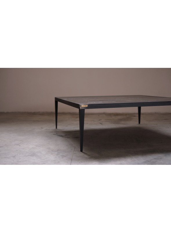 Larch and iron coffee table - Cera