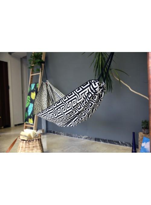 Black and white cotton hammock