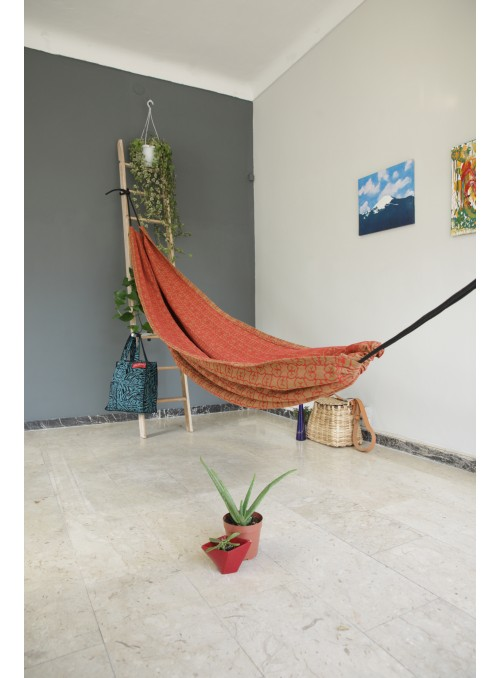 Red and ochre cotton hammock