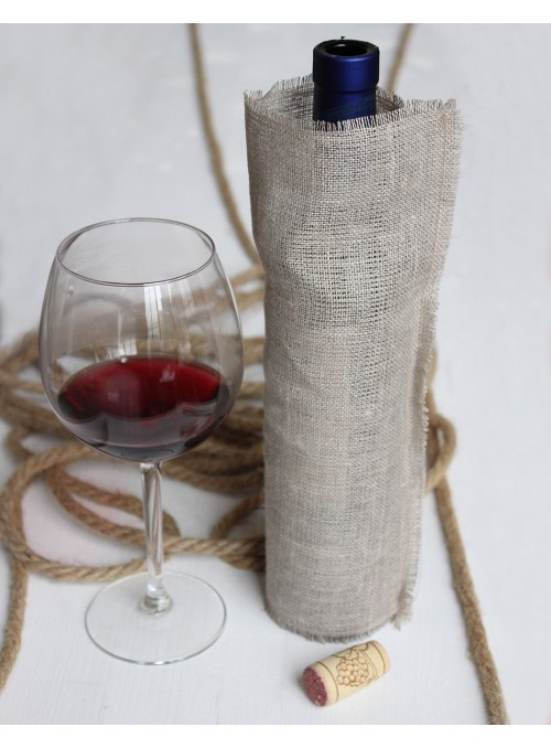 Bottle holder in linen fiber