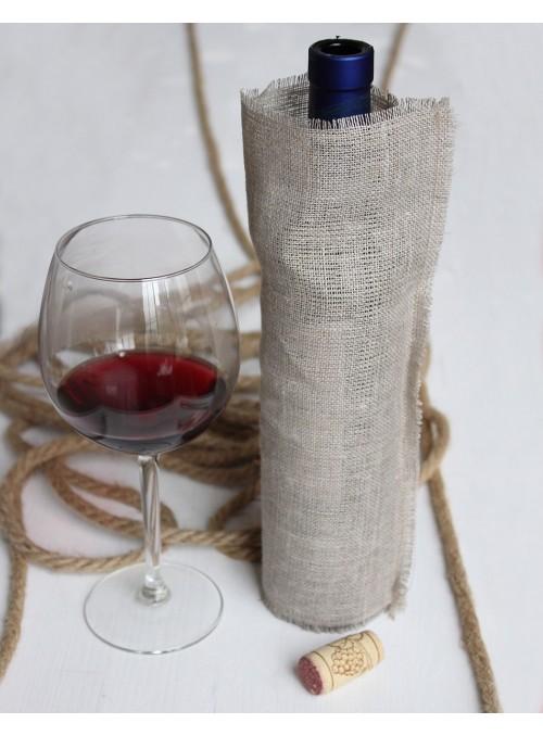 Bottle holder in linen fiber