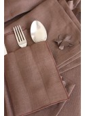 Cutlery holder in pure linen
