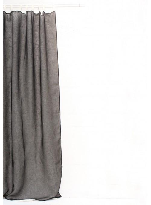 Tenda in garza di lino con passanti crema - Garza