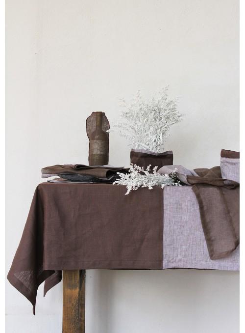 Tablecloth in pure linen , two measures - Quadranti