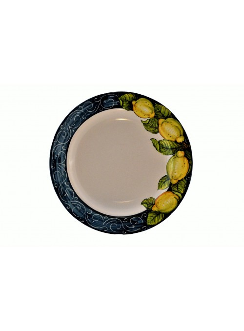 Ceramic dinner plate with decoration