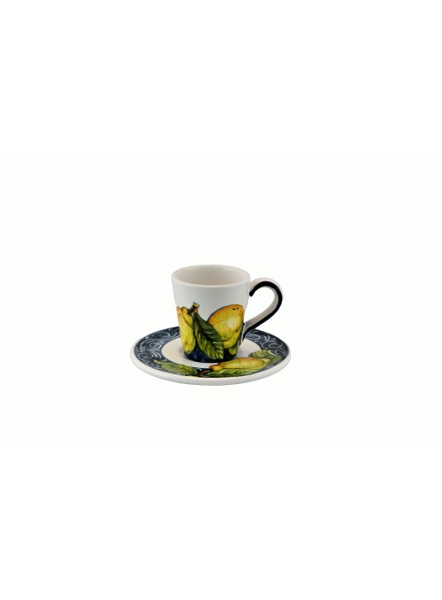 Ceramic espresso cup with decoration
