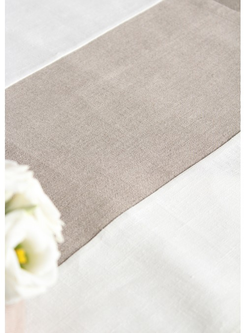 Tablecloth in pure linen, two measures - Righe