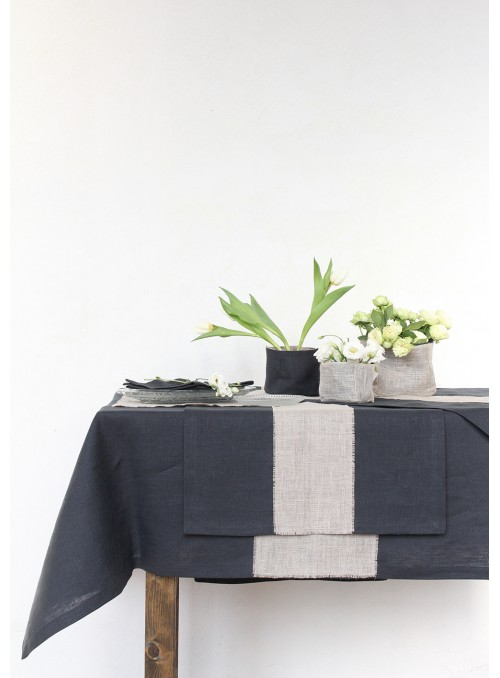 Tablecloth in pure linen, two measures - Doppia rete