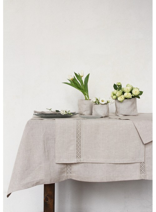 Tablecloth in pure linen, two measures - Inserto