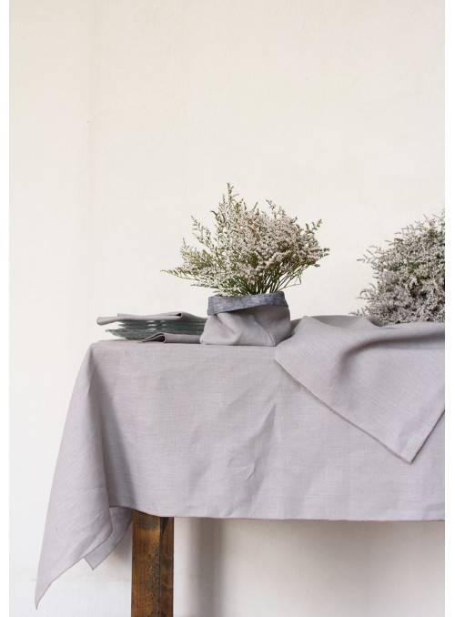 Tablecloth in pure linen, two measures - Cordoncino