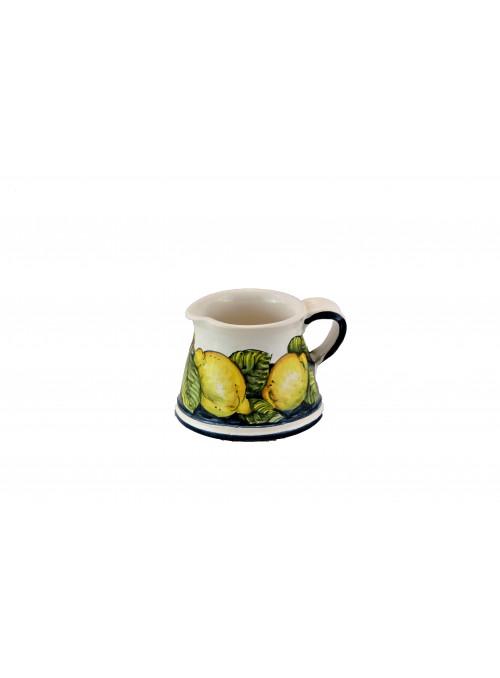 Lattiera in ceramica decorata