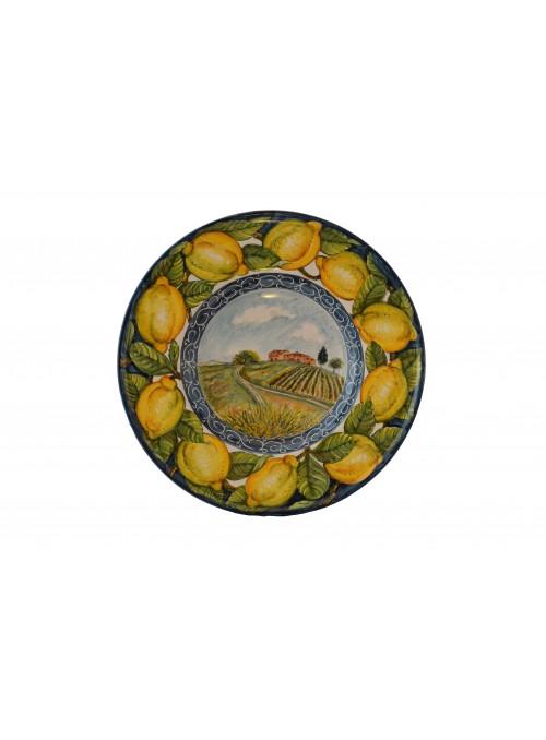 Piatto da parete in ceramica decorata